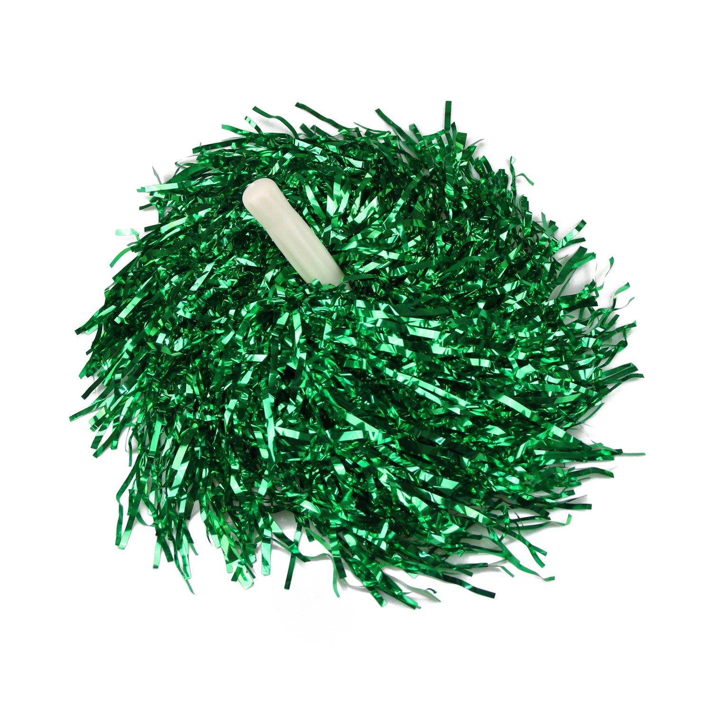 VENI MASEE 1 Paar Gerade Hand Shank Cheerleader Pompons, Preis/2 Stück, 0.025 kg/Stück, 6 Farben - grün Preis/2 Stück 0.025 kg/Stück 6 Farben - grün HOTER