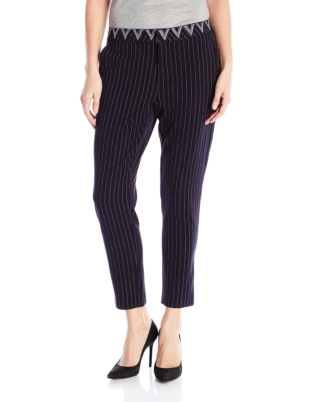 _Navy Desigual Womens Black Woven Long Trouser Pants