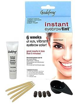 ba731d9d6e2 Godefroy Instant Eyebrow Tint Blister Medium Brown: Amazon.co.uk: Beauty