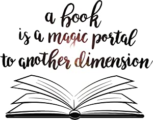 Book Quote Vinyl Wall Decal Reading Room Book Shop Art Decor Stickers Large Mural (ig5297)