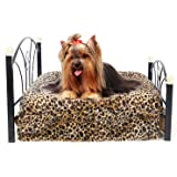 PAWZ Road Metal Frame Pet Bed for Small and Medium Dogs with Mattress