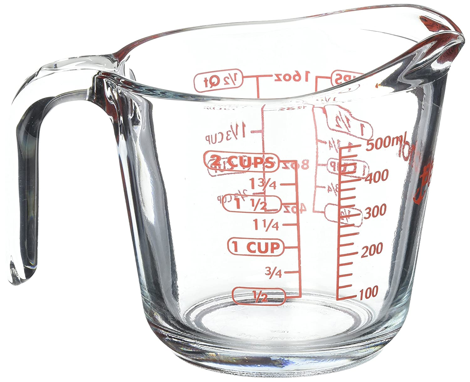 Anchor Hocking Glass Open Handle Measuring Cup 16 oz