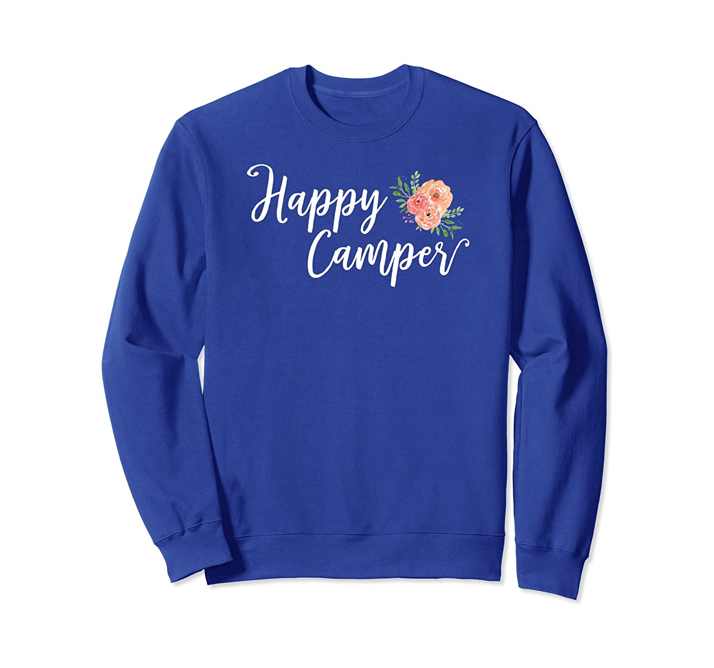 Adorable Floral Happy Camper Vacation Sweatshirt-alottee gift