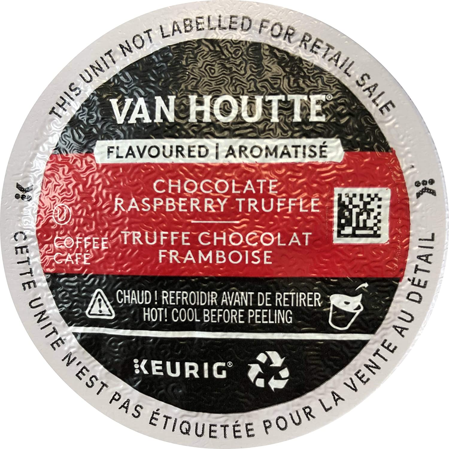 Van Houtte Chocolate Raspberry Truffle Coffee, Light Roast, K-Cup Portion Pack for Keurig K-Cup Brewers 24-Count (Pack of 2)