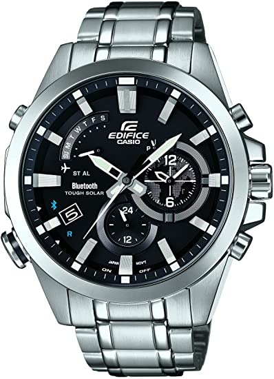 Casio Reloj Cronógrafo para Hombre de Energía Solar con Correa en Acero Inoxidable EQB-510D-1AER: Amazon.es: Relojes