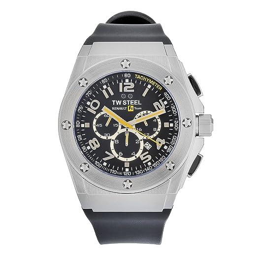TW Steel TW-681 - Reloj de Caballero de Cuarzo, Correa de Silicona Color Negro: TW Steel: Amazon.es: Relojes