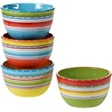 "Certified International 25629SET/4 Mariachi Ice Cream Bowls (Set of 4), 5.25"", Multicolor"