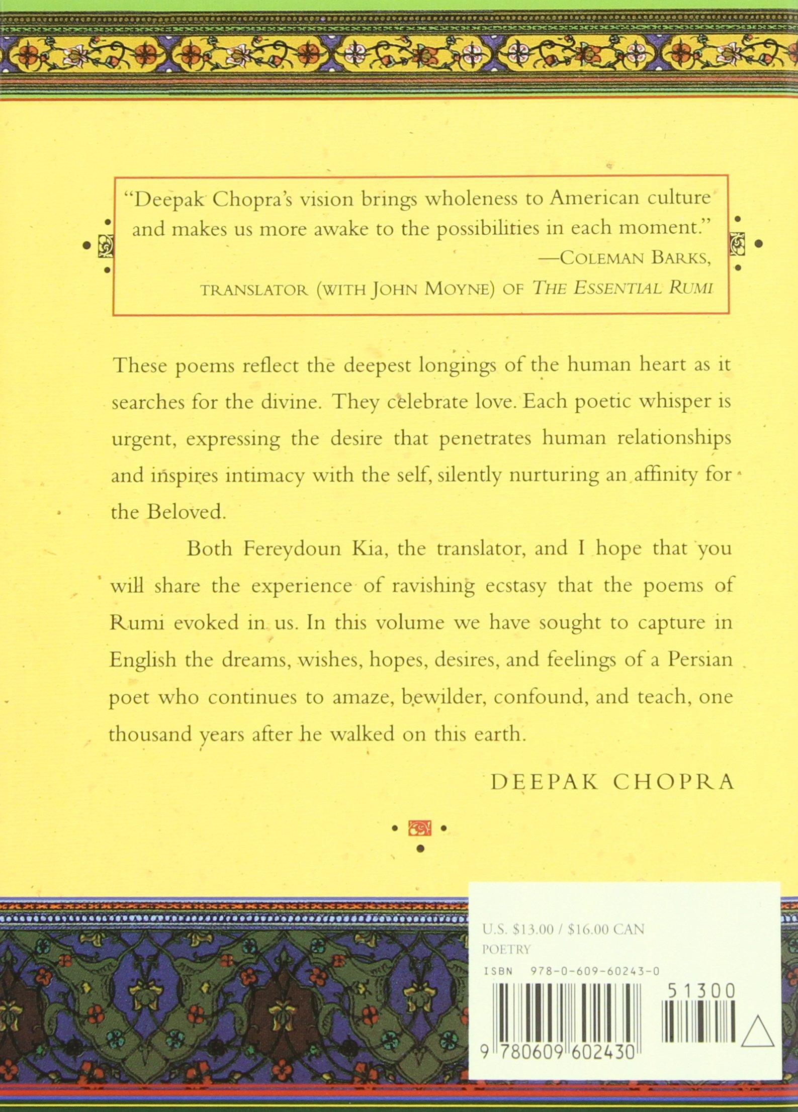 The Love Poems Of Rumi Amazones Jalal Al Rumi Deepak