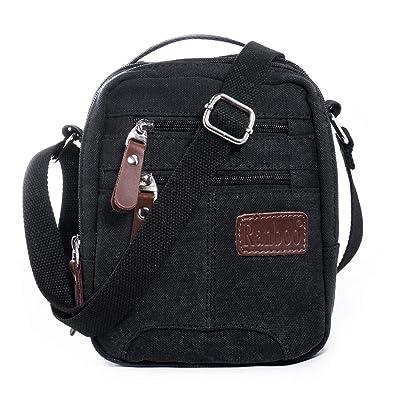 2d511ec588 Katloo Men Shoulder Bag Canvas Cross Body Bags Retro Classic Sports Zipped  Boy Over Shoulder Bag