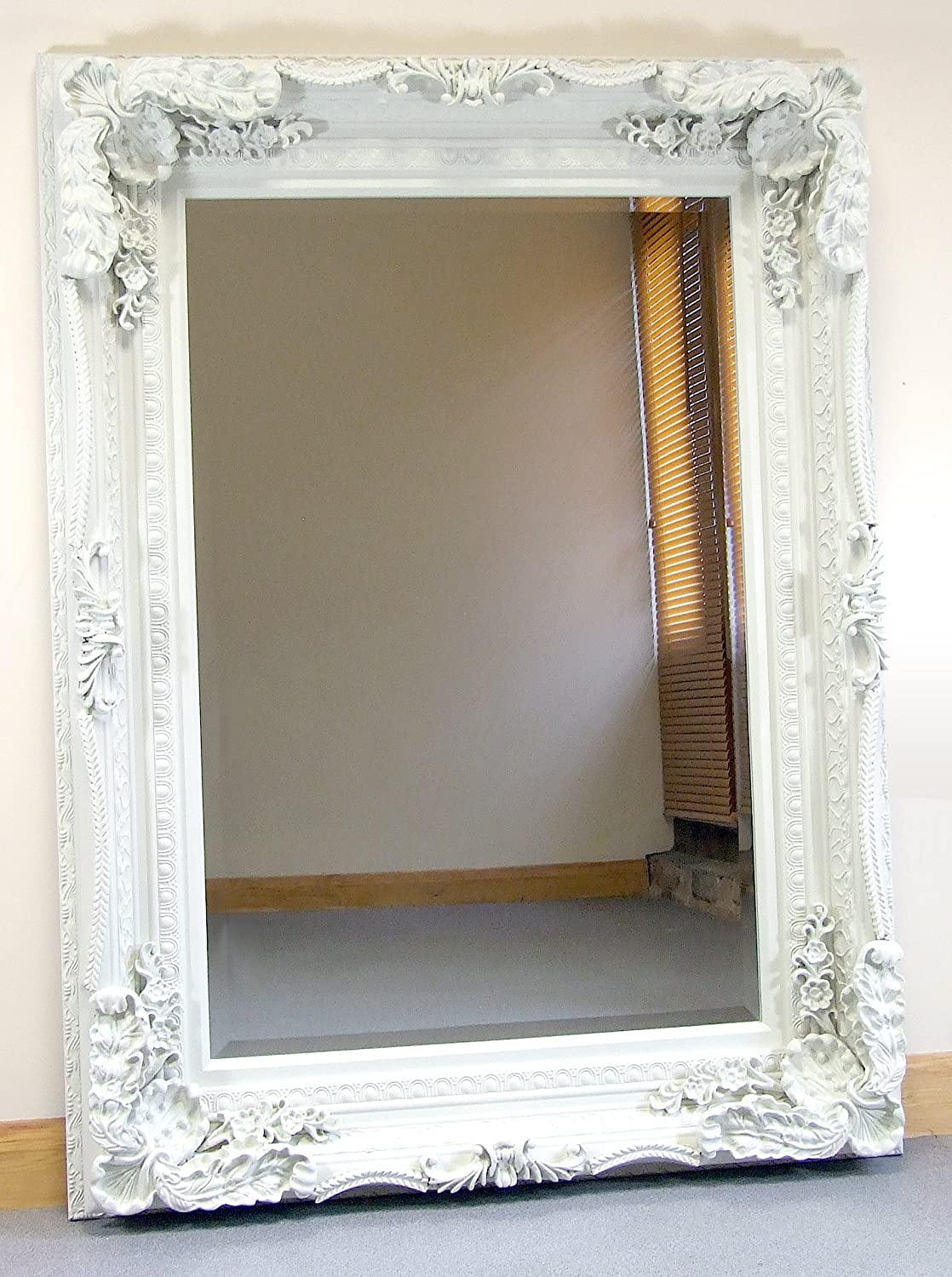 Barcelona Trading Carved Louis Cream Ornate French Frame Wall/Over Mantle Mirror - 35in x 47in Mirroroutlet