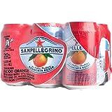 San Pellegrino Sparkling Fruit Beverage, Aranciata Rossa, 330 ml, (Pack of 6)