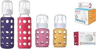 product image for Lifefactory Glass Baby Bottles 4 Pack Starter Kit (9 oz. & 4 oz.)