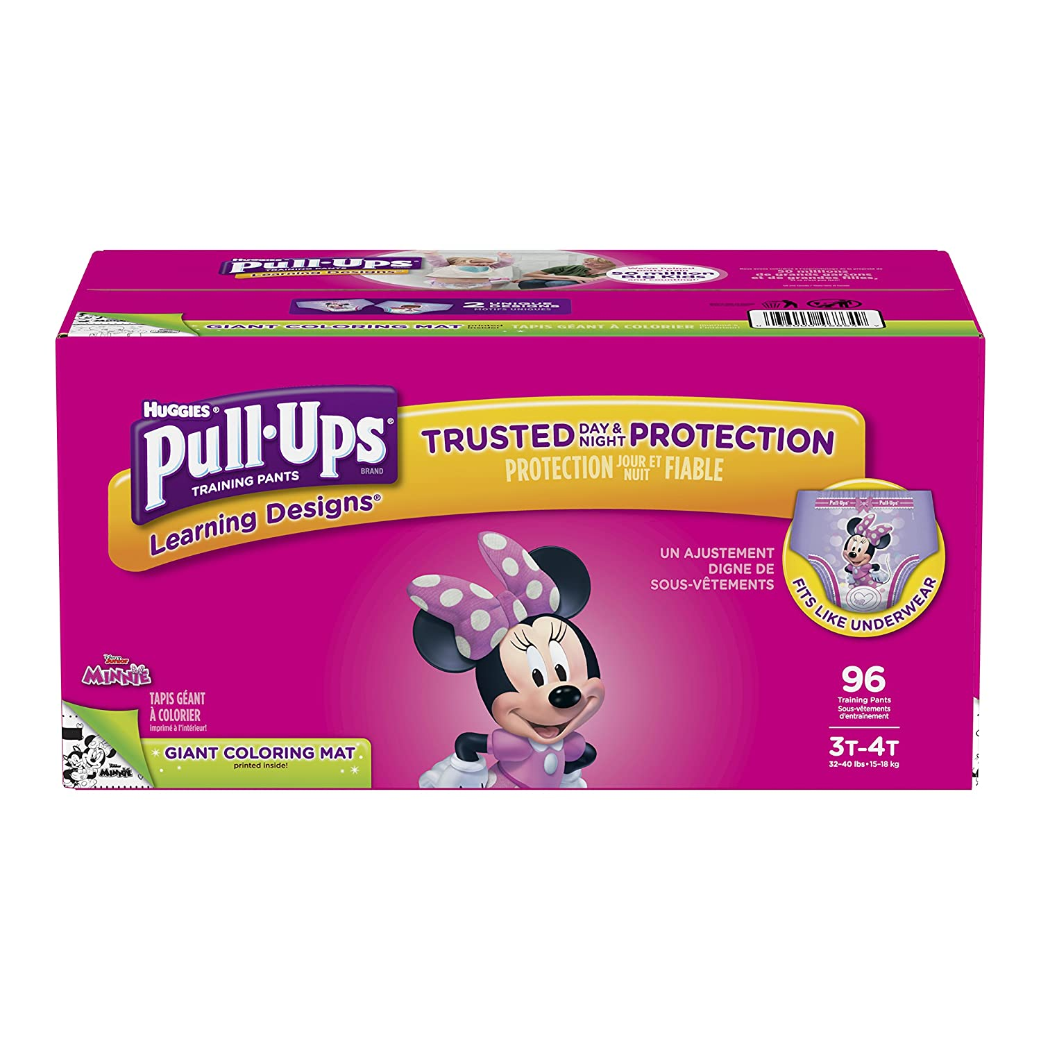 Pull-Ups Learning Designs Training Pants for Girls, 4T-5T (38-50 lb.), 82 Count Kimberly Clark