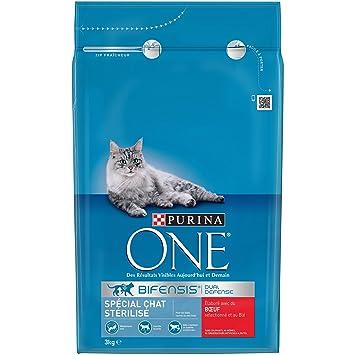 One 1571260031 - menú Gato esterilizado Rico en Buey y Trigo 3kg ...