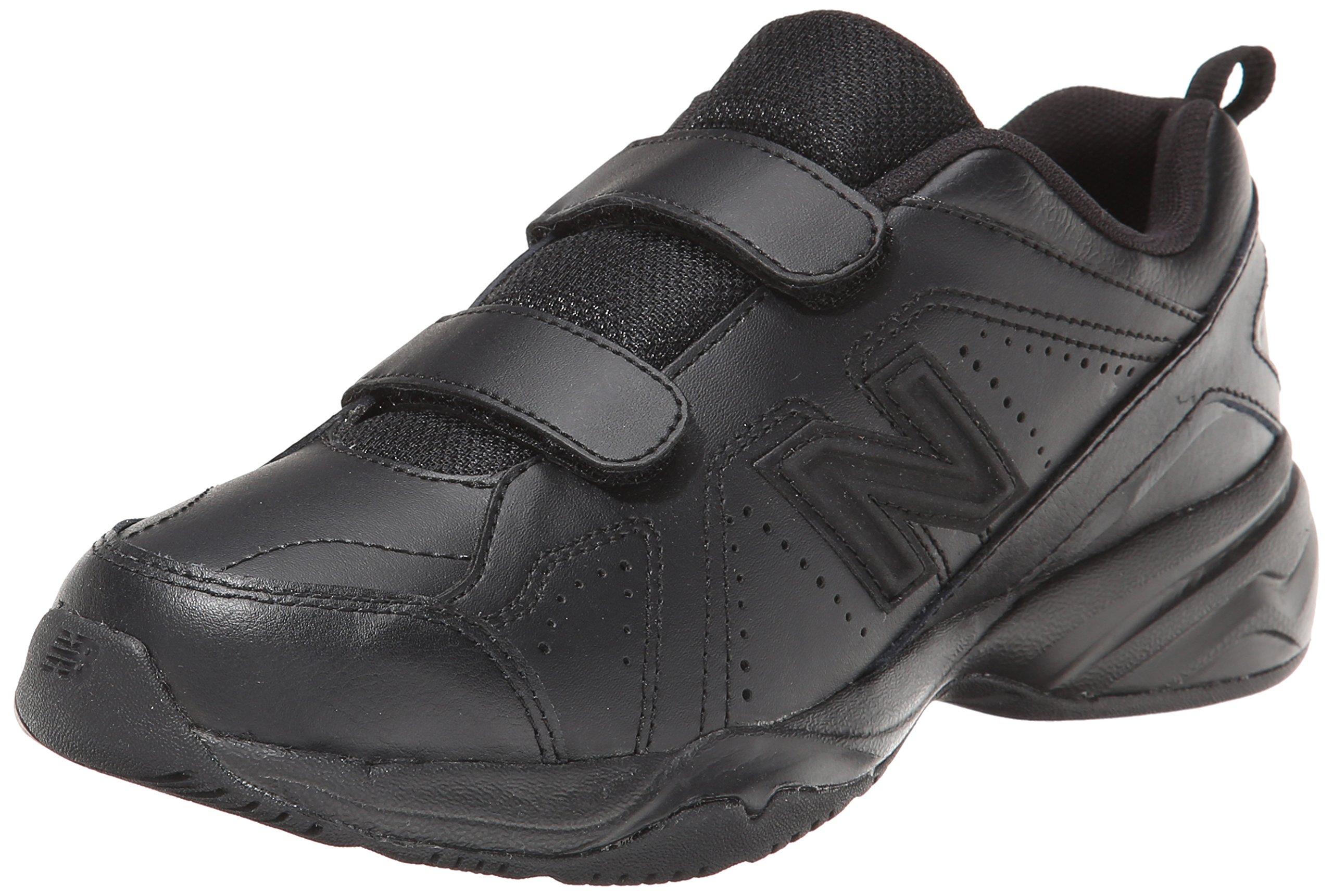 New Balance Boys' KV624 Hook and Loop Training Shoe, Black, 7 M US Big Kid