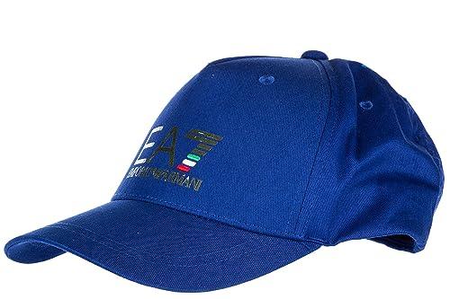 7c6153fe21c Emporio Armani EA7 adjustable men s cotton hat baseball cap train world cup  blu UK size UNI