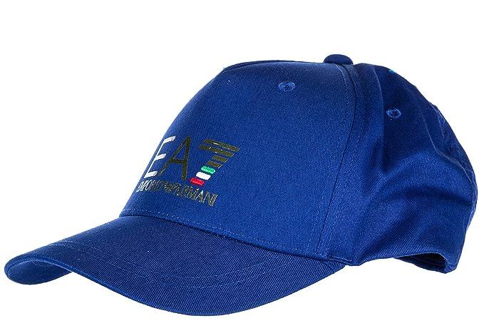 Emporio Armani EA7 cappello berretto regolabile uomo in cotone originale  train world cup blu EU UNI 4c8f2c1aaaae
