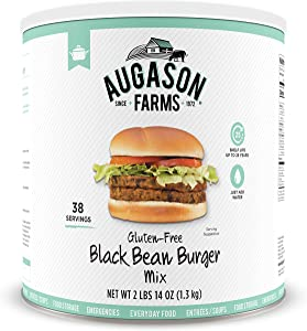 Augason Farms Gluten-Free Black Bean Burger 2 lbs 14 oz No. 10 Can