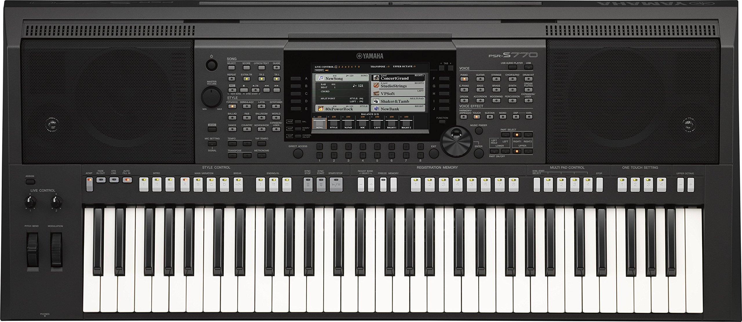 Yamaha PSR-S770 61-Key Arranger Workstation