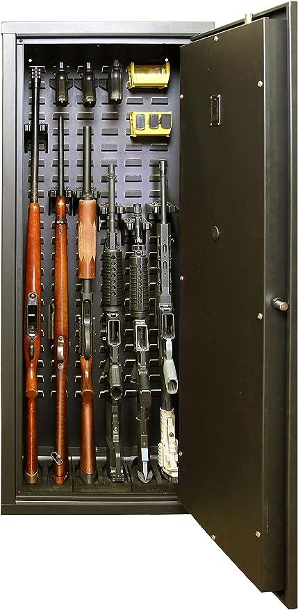 Security Plus 8-Gun Ready Safe Rack Wall Locker Assemble Storage Cabinet Steel