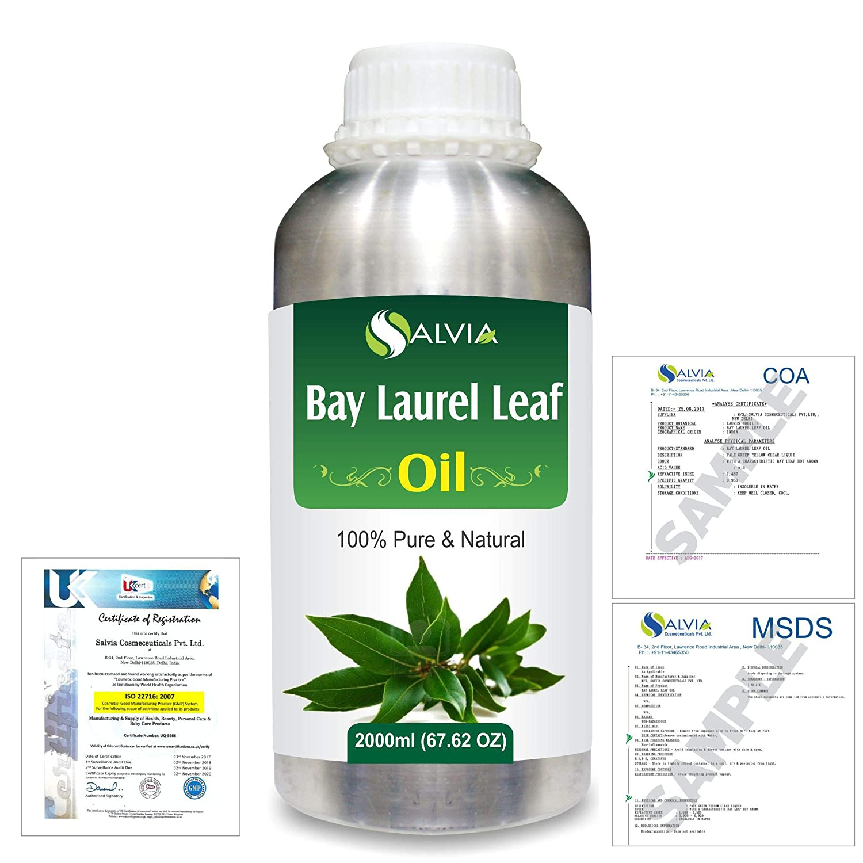 Bay Laurel Leaf (Laurus nobilis) 100% Natural Pure Essential Oil 2000ml/67 fl.oz. B07R3ZCBJL