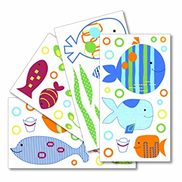 Amazon.com: Lambs & Ivy Wall Appliques, Under the Sea: Baby