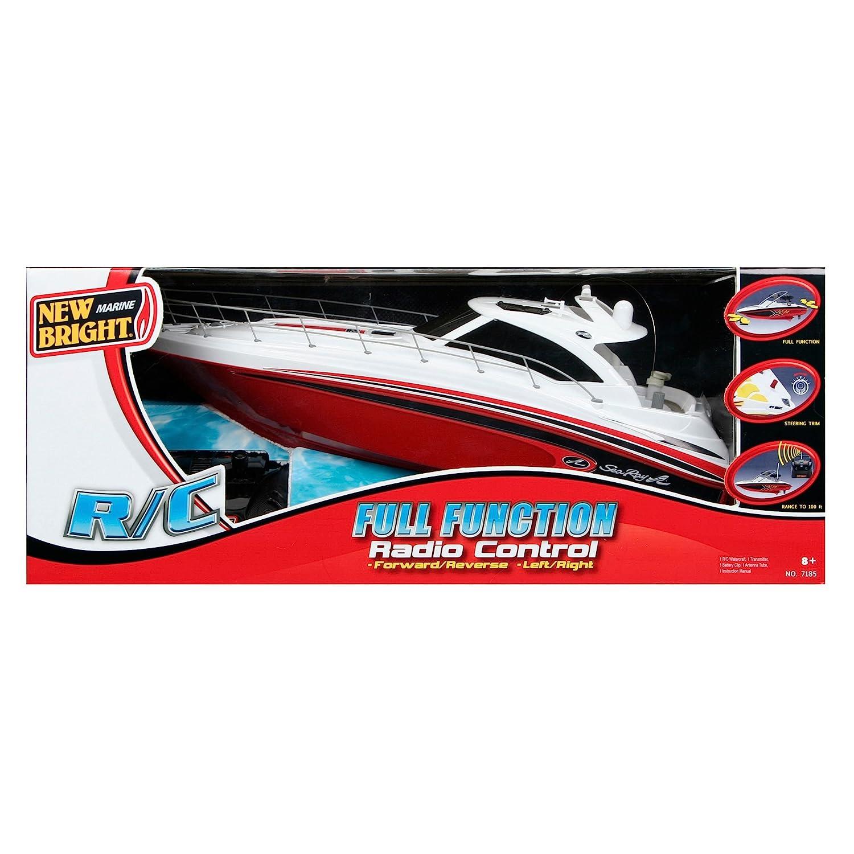Amazon.com: New Bright Sea Ray Boat Radio Controlled Toy -: Toys & on