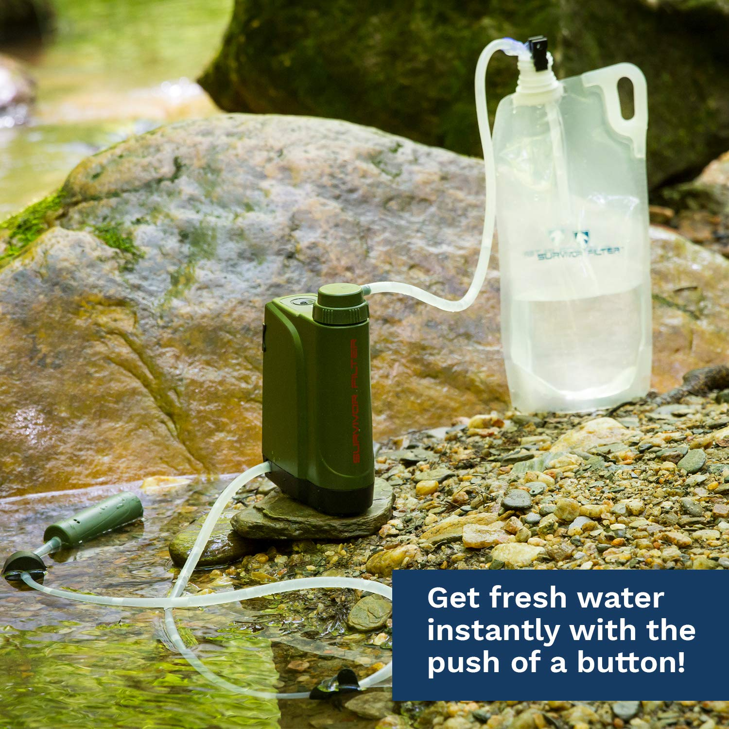 Survivor Filter Pro X - Electric Camping Water Filter - Emergency Water Filter: Industrial & Scientific