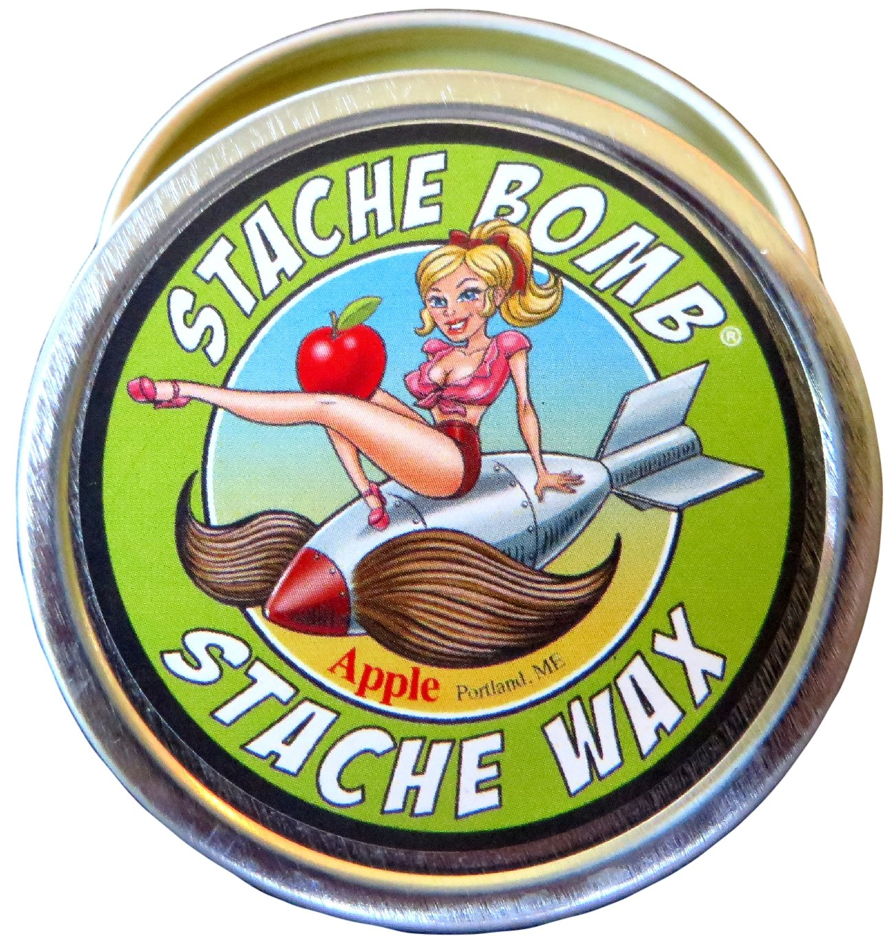 Apple Stache Bomb Stache Wax- Moustache Wax From Maine