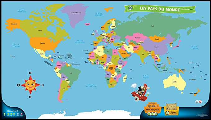 Leapfrog tag book world map version franaise educational leapfrog tag book world map version franaise educational electronics amazon canada gumiabroncs Choice Image