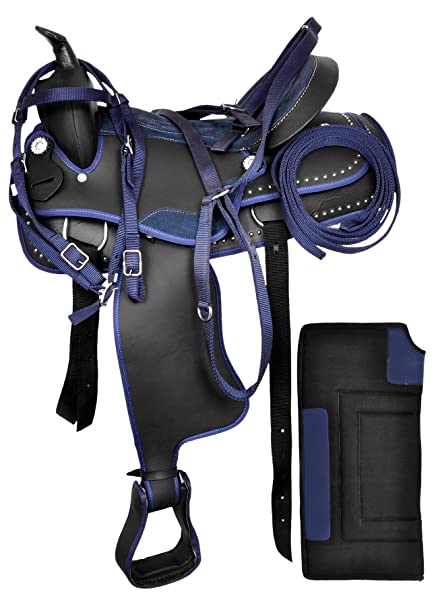 Breast Collar /& Reins Size 14 to 18 Inches Seat Available Get Matching Headstall Manaal Enterprises Synthetic Western Horse Saddle Tack Barrel Racing 14 Inches Seat