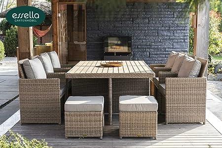 polyrattan sitzgruppe kingston 6 personen rundgeflecht vintage weiss gartenm bel. Black Bedroom Furniture Sets. Home Design Ideas