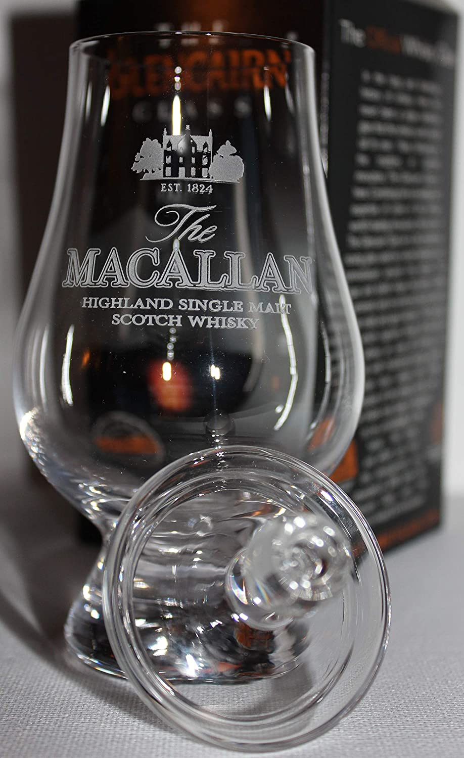 MACALLAN GLENCAIRN MALT SCOTCH WHISKY TASTING GLASS WITH GINGER JAR TOP