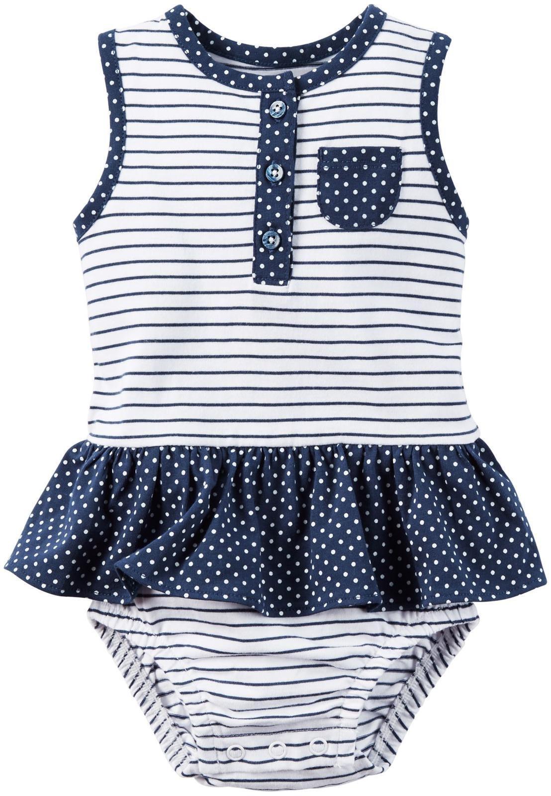 Carter's Baby Girls' 1 Pc 118h108, Navy, 3 Months