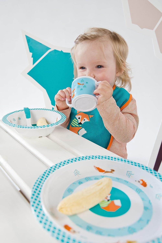 L/ÄSSIG Tasse Trinklernbecher Schnabeltasse Kinder Baby Kleinkind mit Henkeln rutschfest sp/ülmaschinengeeignet Melamin//Cup Little Tree Fawn