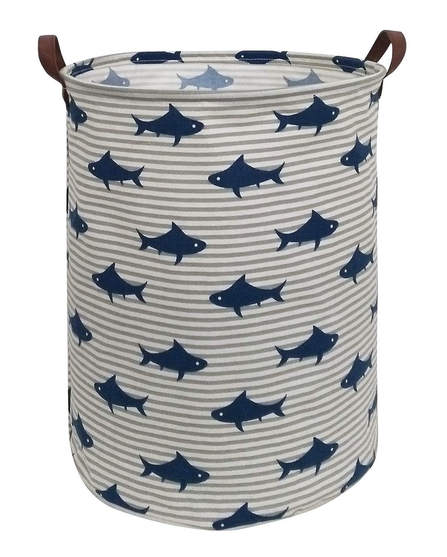 Art Unicorn ESSME Laundry Hamper,Collapsible Canvas Waterproof Storage Bin for Kids Nursery Hamper,Gift Baskets,Home Organizer