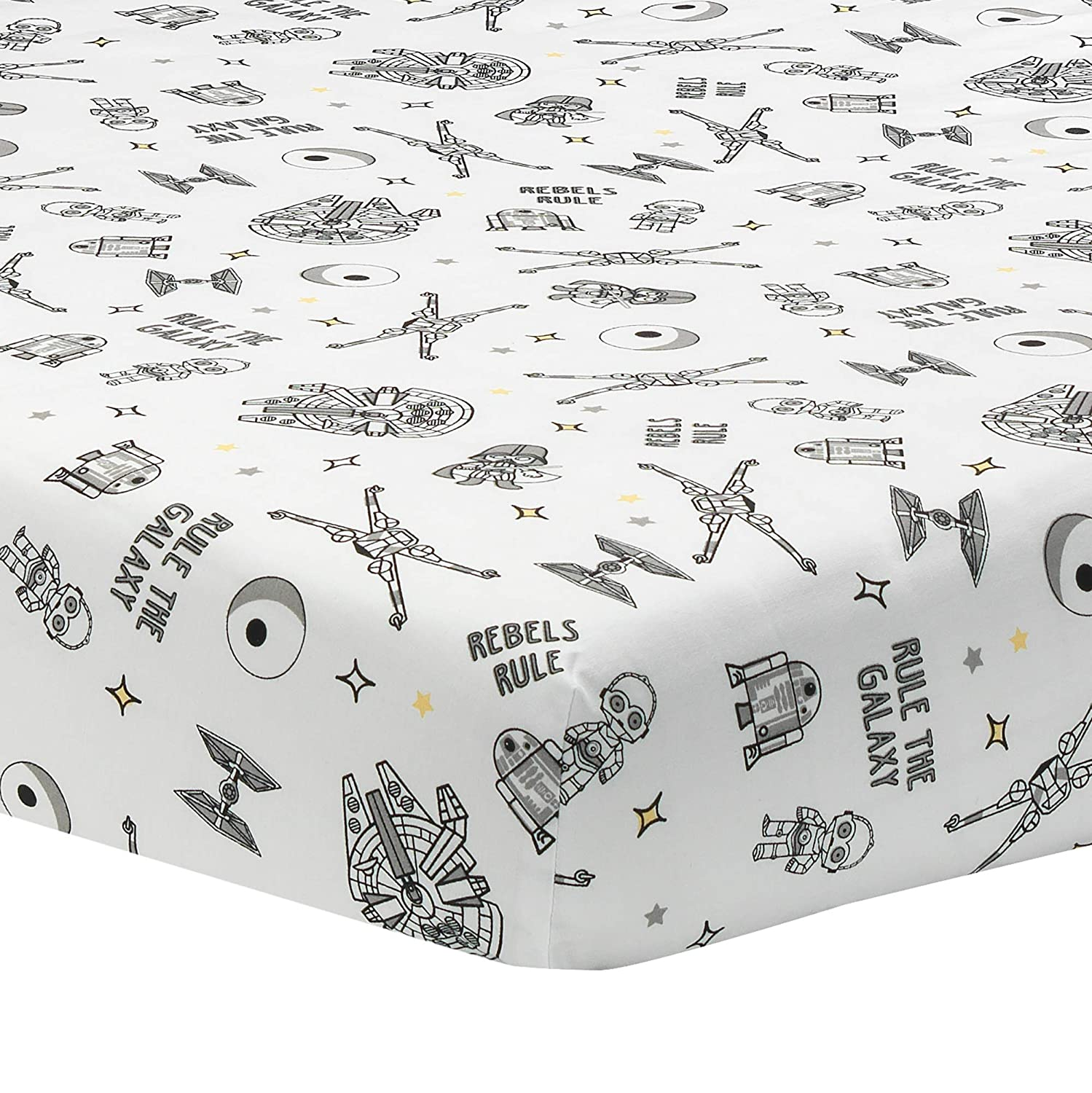 Lambs /& Ivy Star Wars Signature Rebels Rule Cotton Fitted Crib//Toddler Sheet