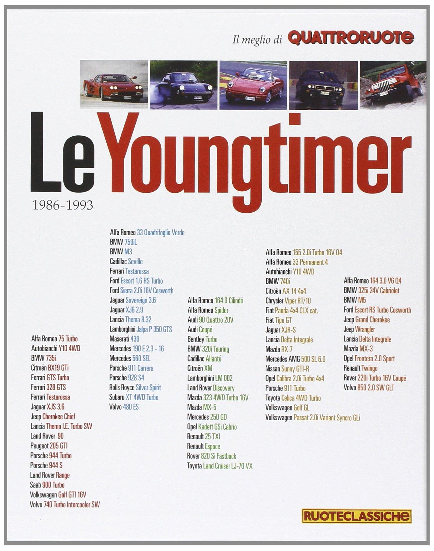 Le youngtimer. Il meglio di Quattroruote (Italian) Paperback