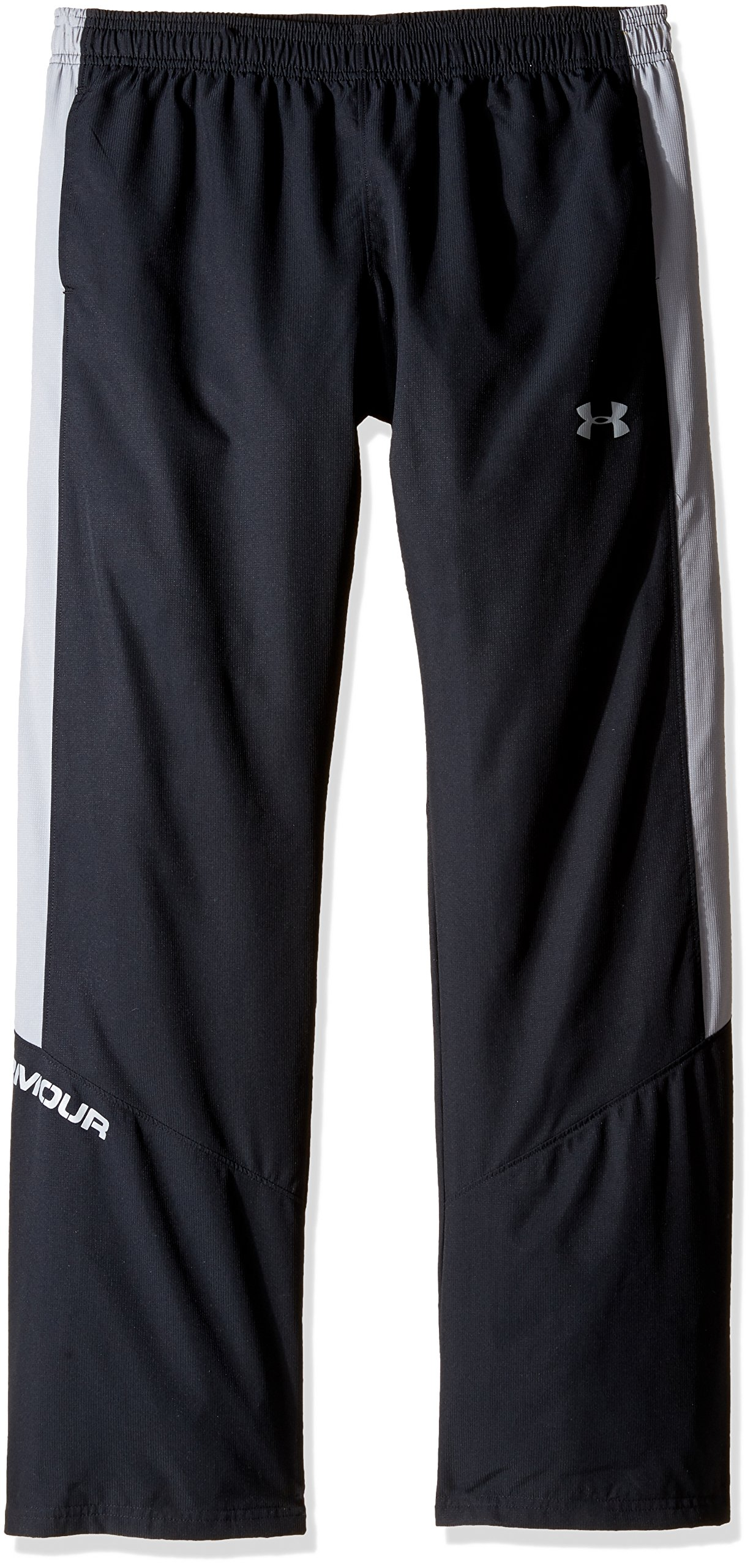 Under Armour Boys' Main Enforcer Woven Pants, Black /Steel, Youth Small by Under Armour