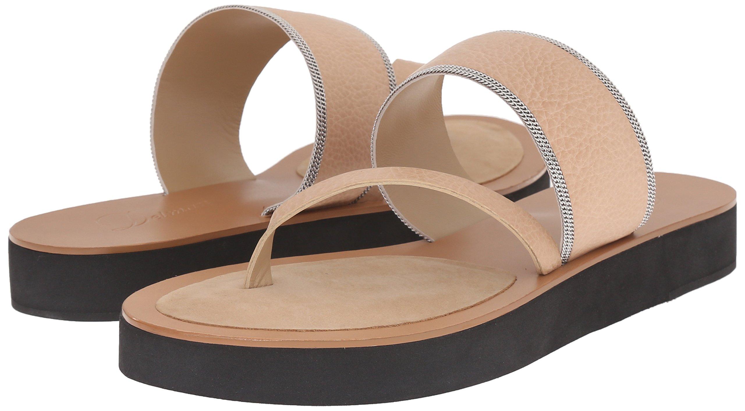 Delman Women's D-Una-V Slide Sandal, Sand Dune Vachetta/Fine Chain, 9.5 M US by Delman (Image #6)