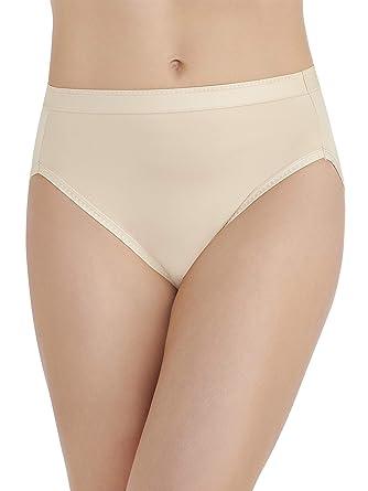 7fafde377ee6 Vanity Fair Women's Comfort Where It Counts Hi Cut Panty 13164, Damask  Neutral, Medium