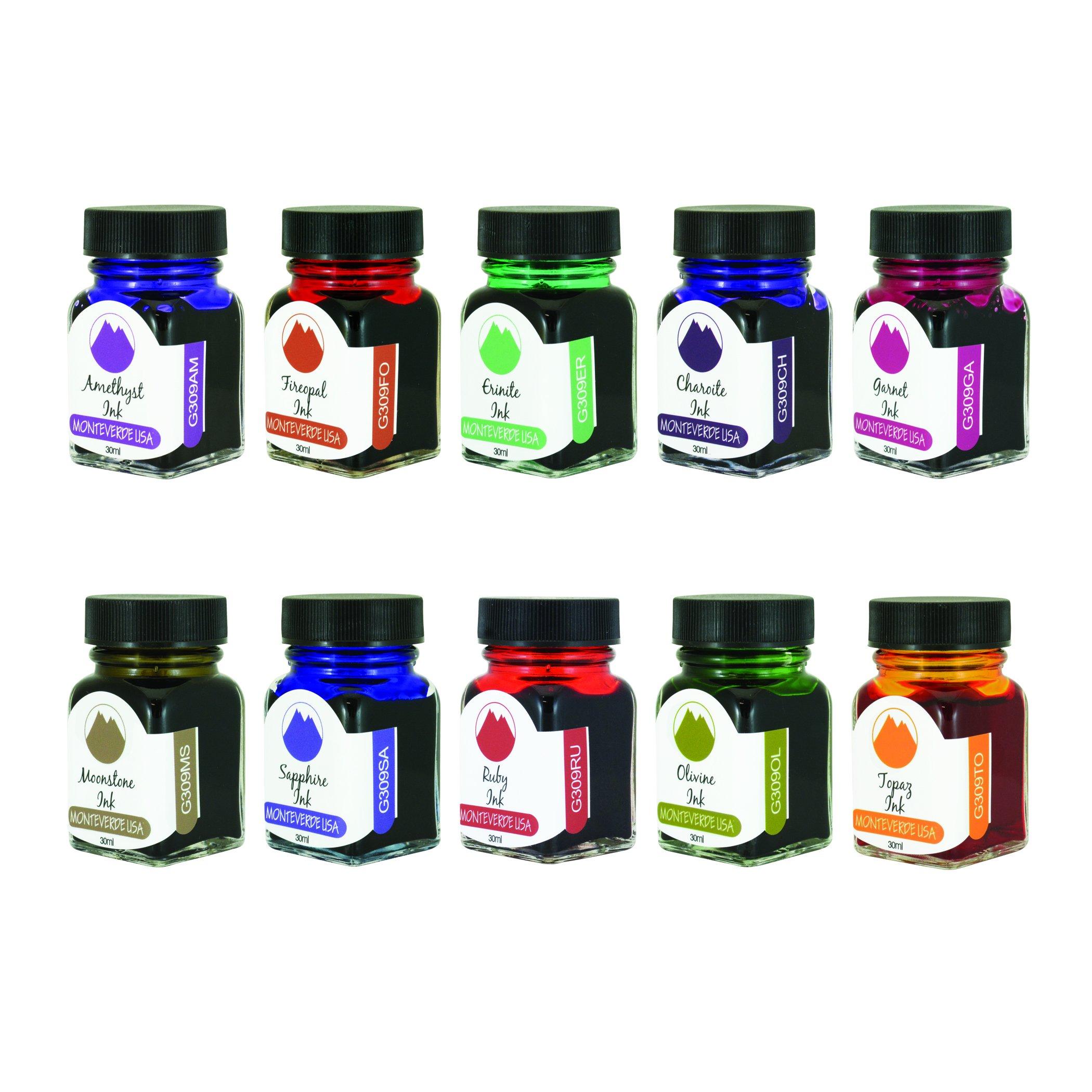MONTEVERDE Gemstone Ink Collection Gift Set Fountain Pen Refill, Various Colors (MV12373) by Monteverde (Image #3)