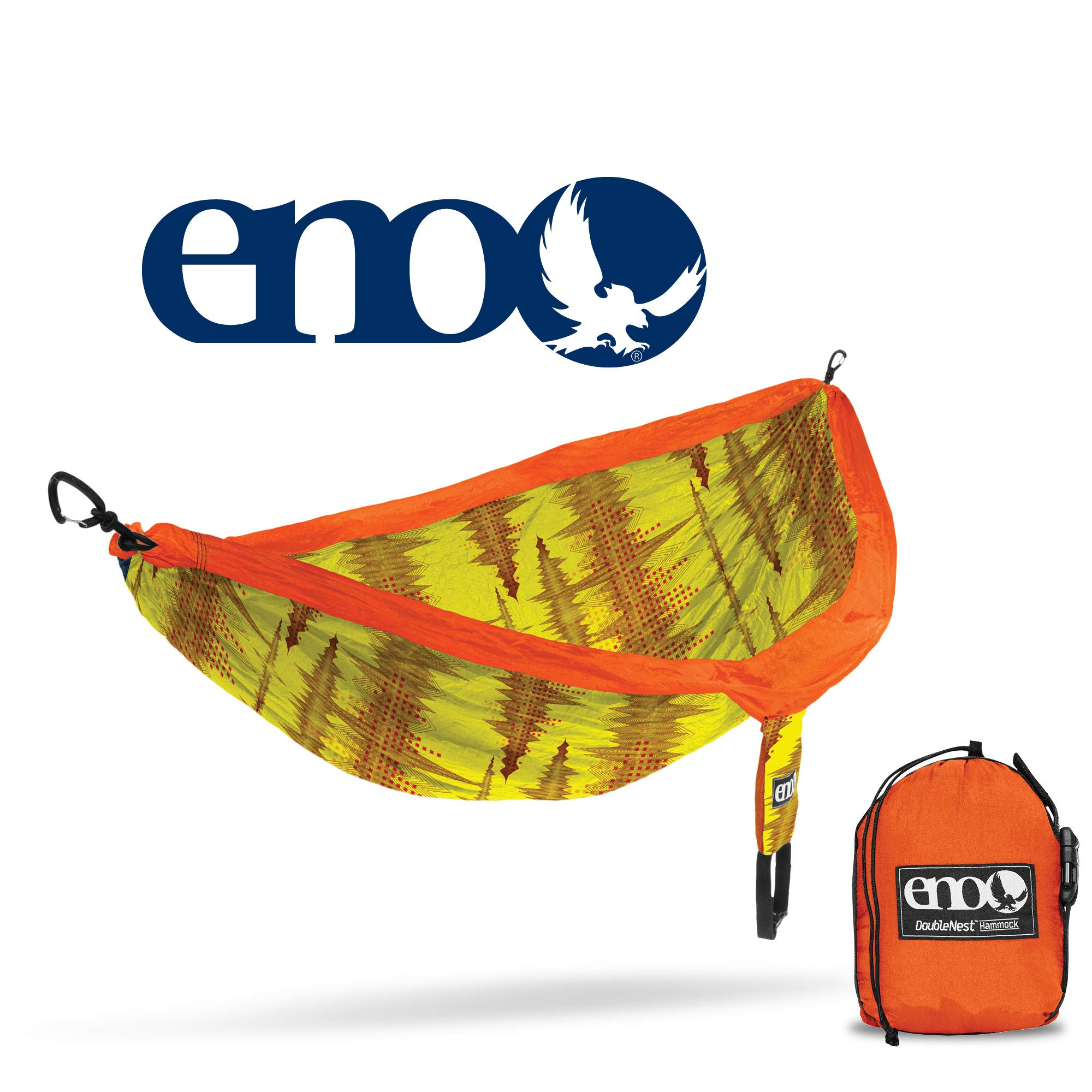 ENO - Eagles Nest Outfitters DoubleNest Print, Portable Hammock for Two, Soundwave/Yellow by ENO