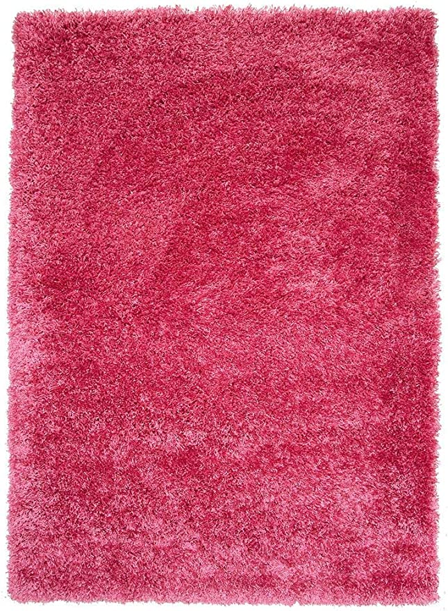 Bright Pink Super Soft Luxury Shaggy Rug 5 Sizes Available 60cmx110cm 2ft X 3ft7 Amazon Co Uk Kitchen Home