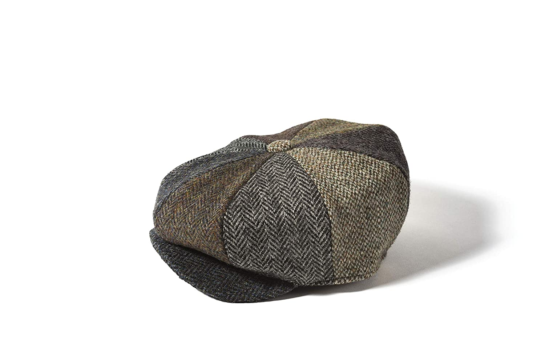 Unisex Genuine Harris Tweed Patchwork Newsboy 8 Piece Flat Cap by Failsworth