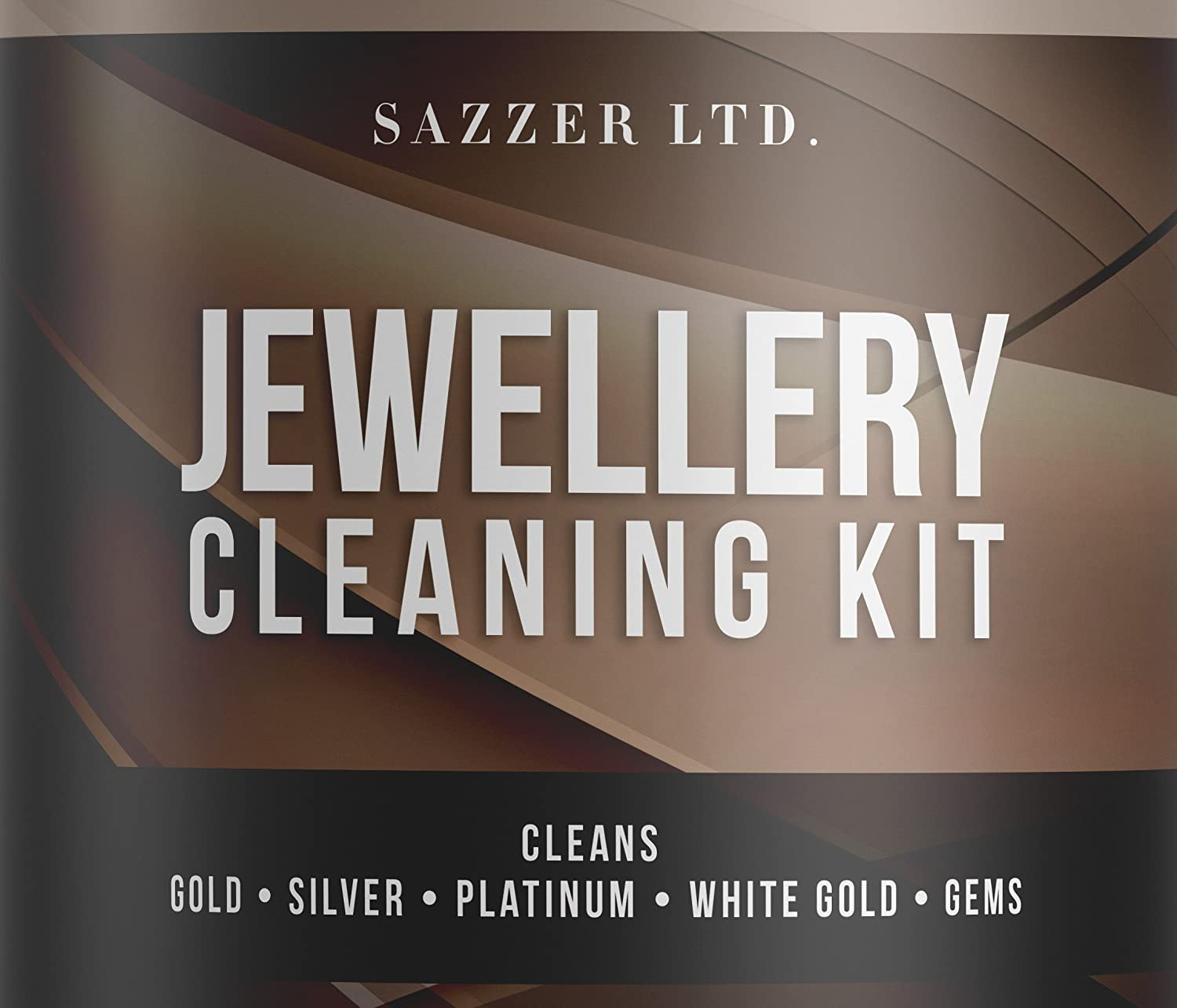 Jewellery Cleaner Bath With Brush and Basket 236ML **PLUS Jewellery Cleaning Cloth*** Cleans Gold, Silver , Platinum, White Gold, Opals, Pearls and Gems TJM