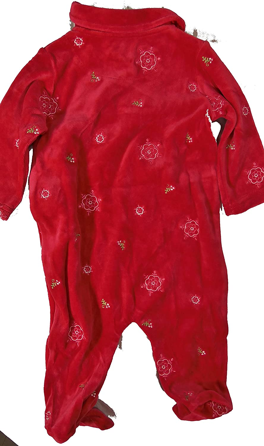 a20093a6e Amazon.com  First Moment s Infant Footed One Piece Flower Pajama s ...