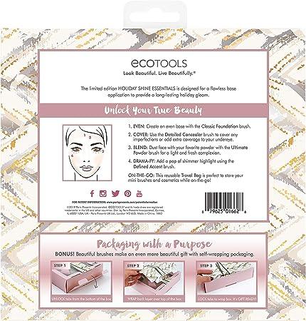 Ecotools - Juego de brochas de maquillaje para rostro - 110 g ...