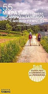 55 Mapas para realizar el Camino de Santiago. Camino Francés (desplegables) (Mapa