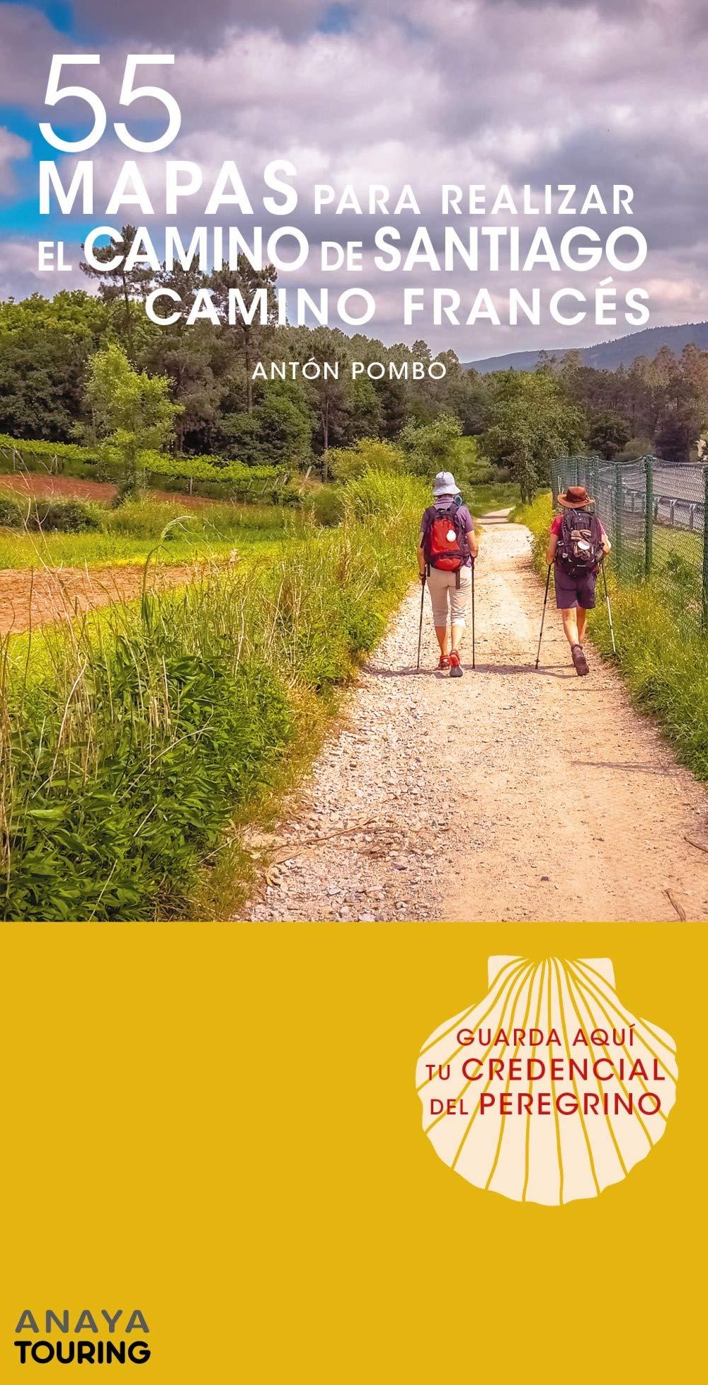55 Mapas para realizar el Camino de Santiago. Camino Francés (desplegables) (Mapa Touring)